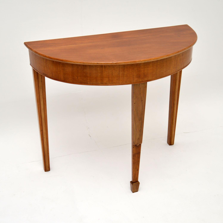 antique georgian period walnut console table