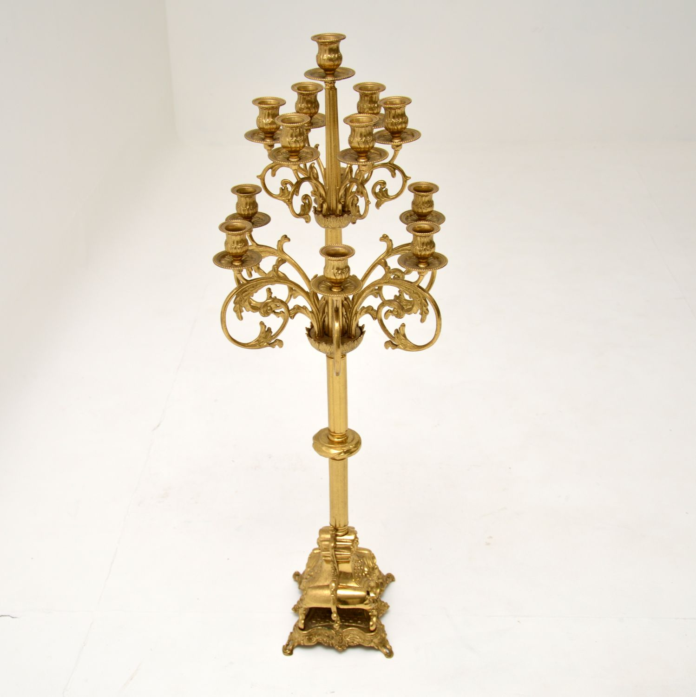 antique italian brass large candelabra
