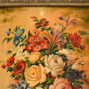 antique italian oil painting on board