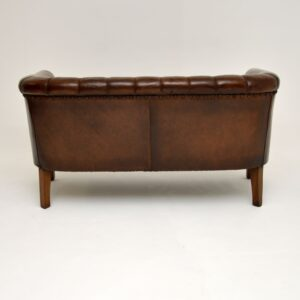 Antique Swedish Leather Sofa