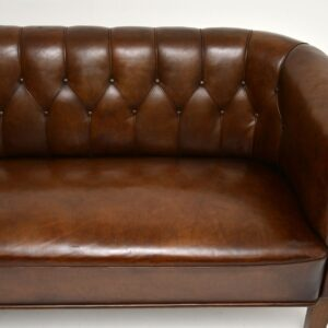 antique swedish leather tub sofa settee