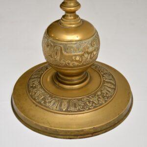 antique vintage spanish moorish brass floor lamp