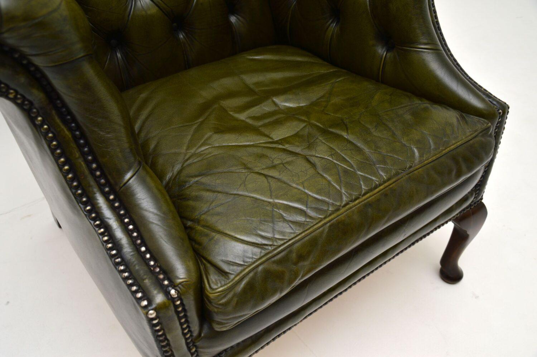 antique georgian deep buttoned armchair