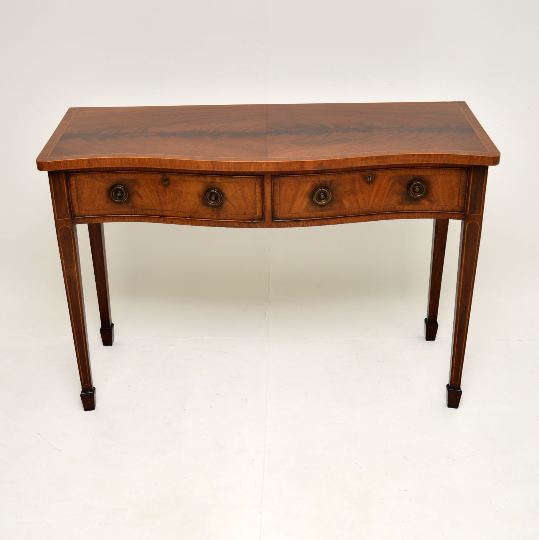antique georgian sheraton inlaid mahogany server console side table