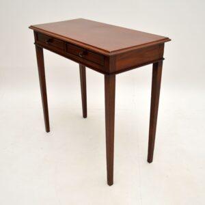 antique georgian mahogany writing side table desk