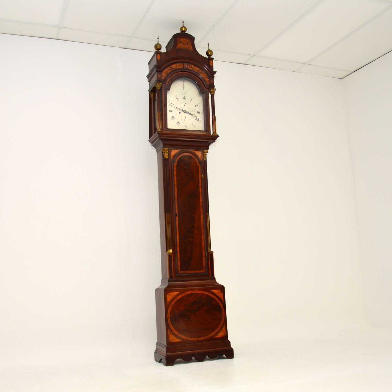 antique georgian period long case grandfather clock richard reeves