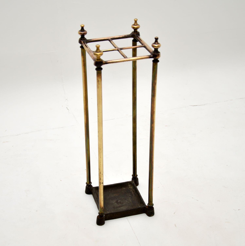 antique victorian brass umbrella stand rack