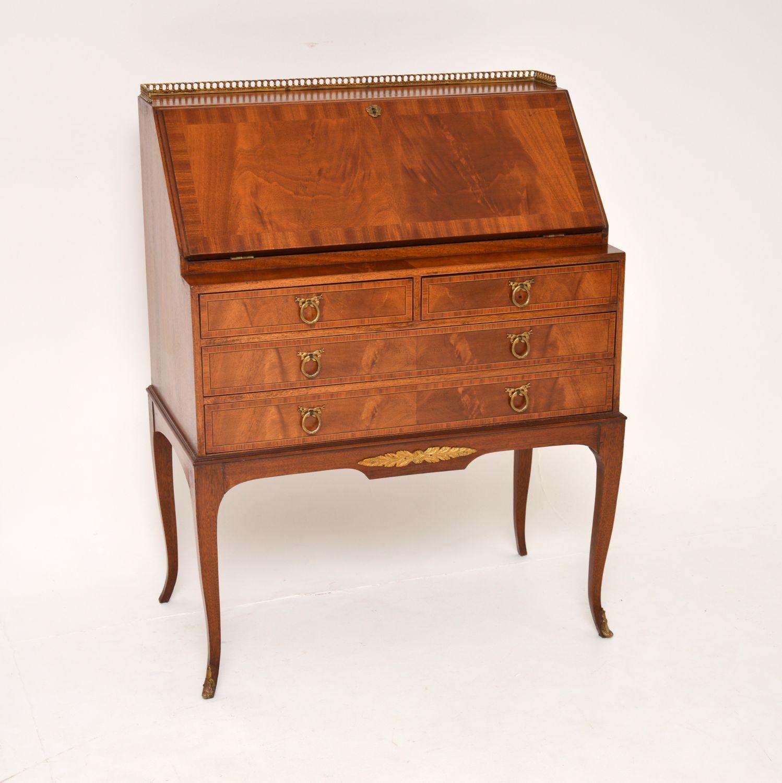 antique french mahogany writing bureau