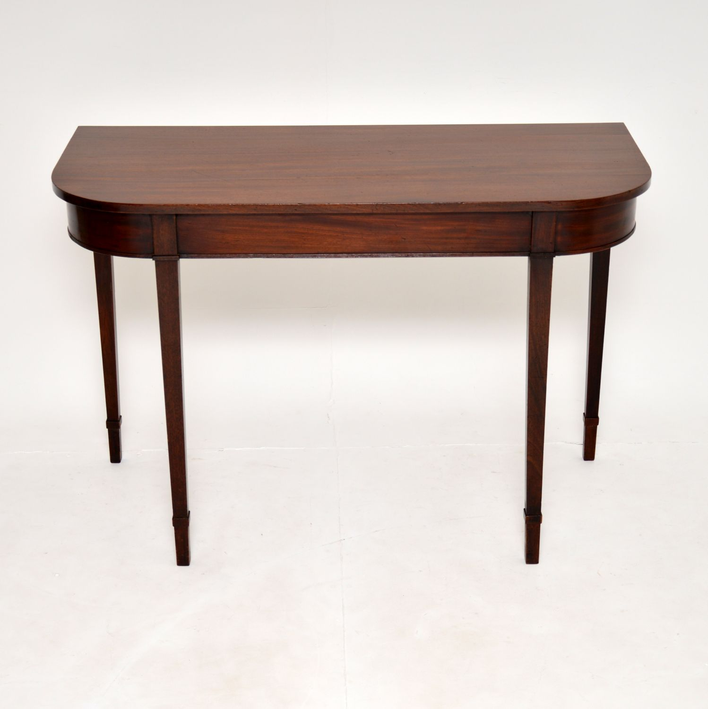 antique georgian period mahogany console table