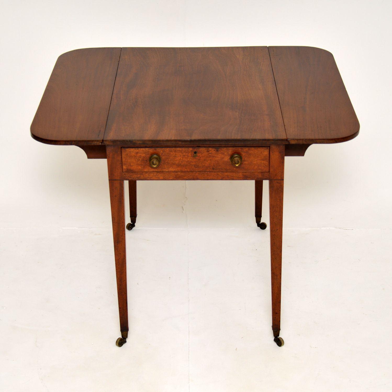 antique georgian period mahogany drop leaf pembroke table
