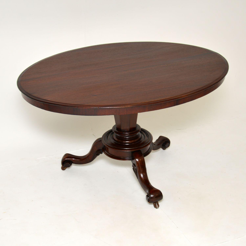 antique william IV victorian mahogany tilt top dining centre breakfast table