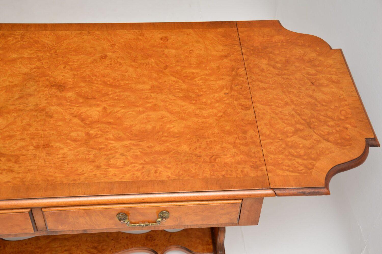 antique queen anne regency walnut sofa table