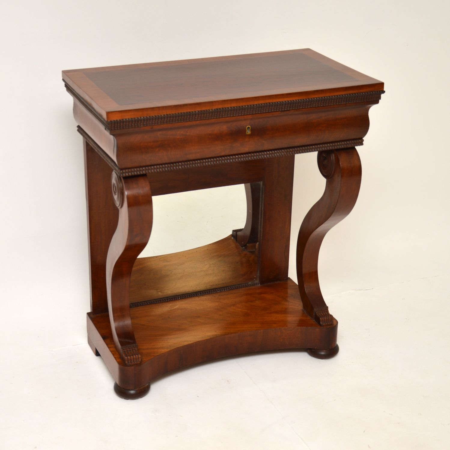 antique regency william IV mahogany console side table