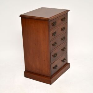 antique victorian mahogany chest of drawers bedside chest
