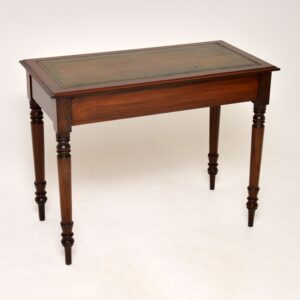antique mahogany victorian leather top writing table desk