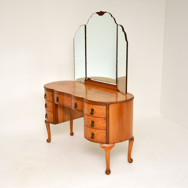 antique burr walnut dressing table