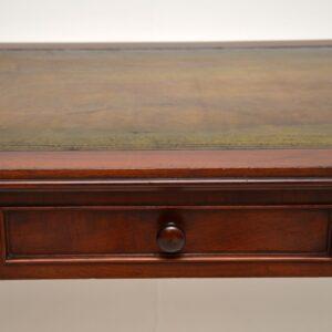 antique william IV victorian mahogany writing table desk