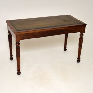 Antique William IV Mahogany Leather Top Writing Table / Desk