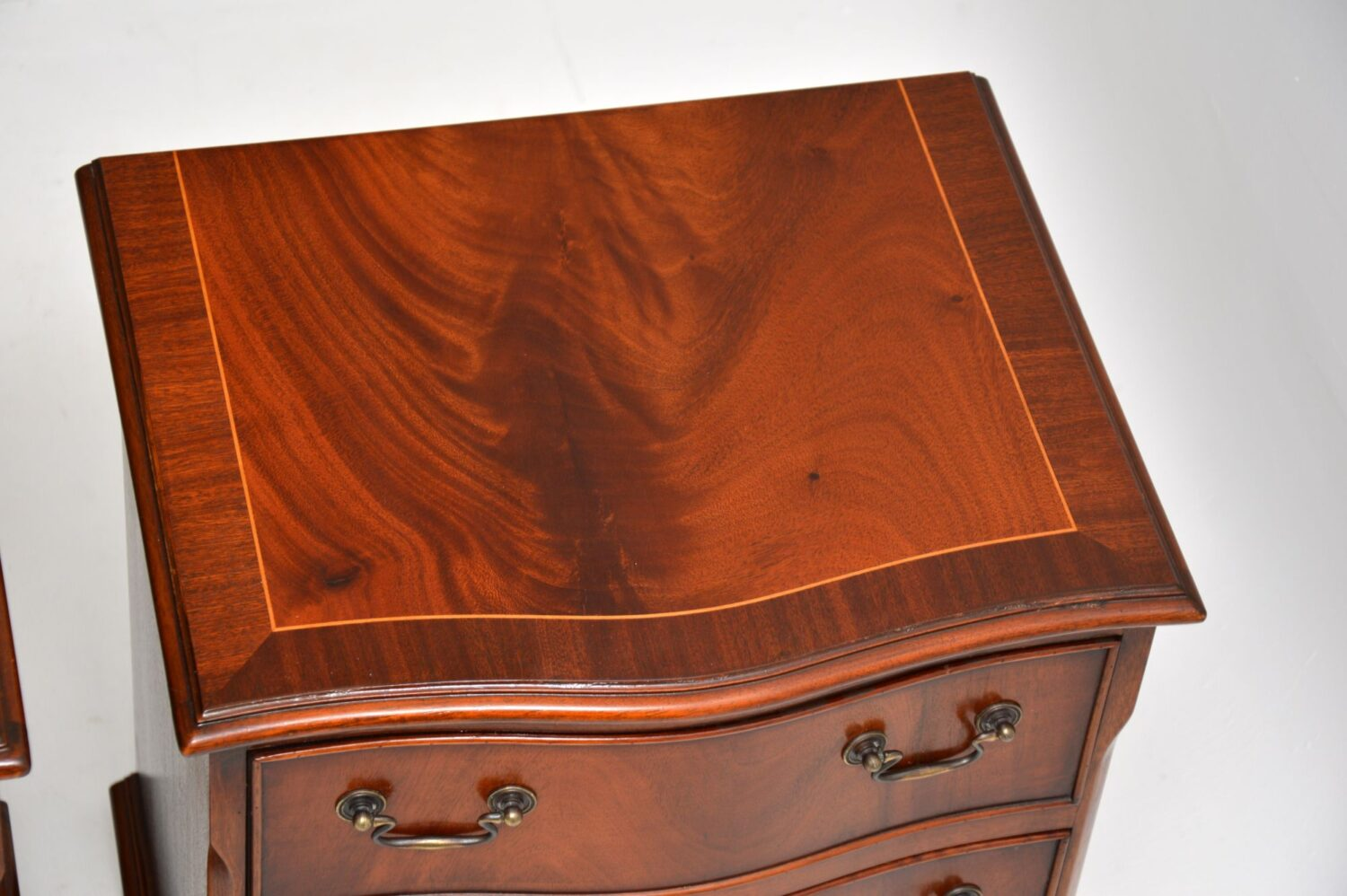 pair of antique mahogany bedside chests cabinets