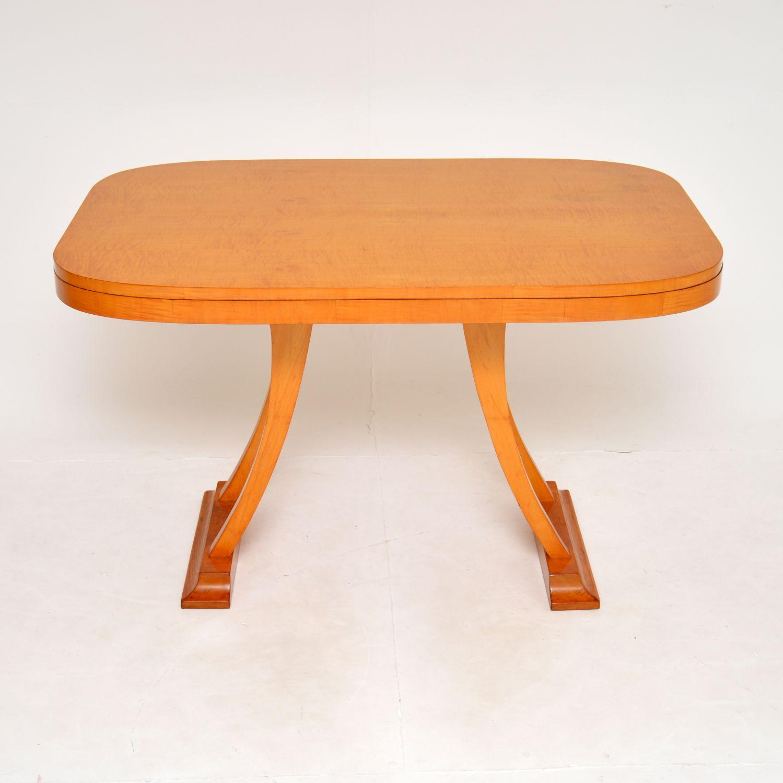 antique art deco retro vintage satin wood swedish dining table desk