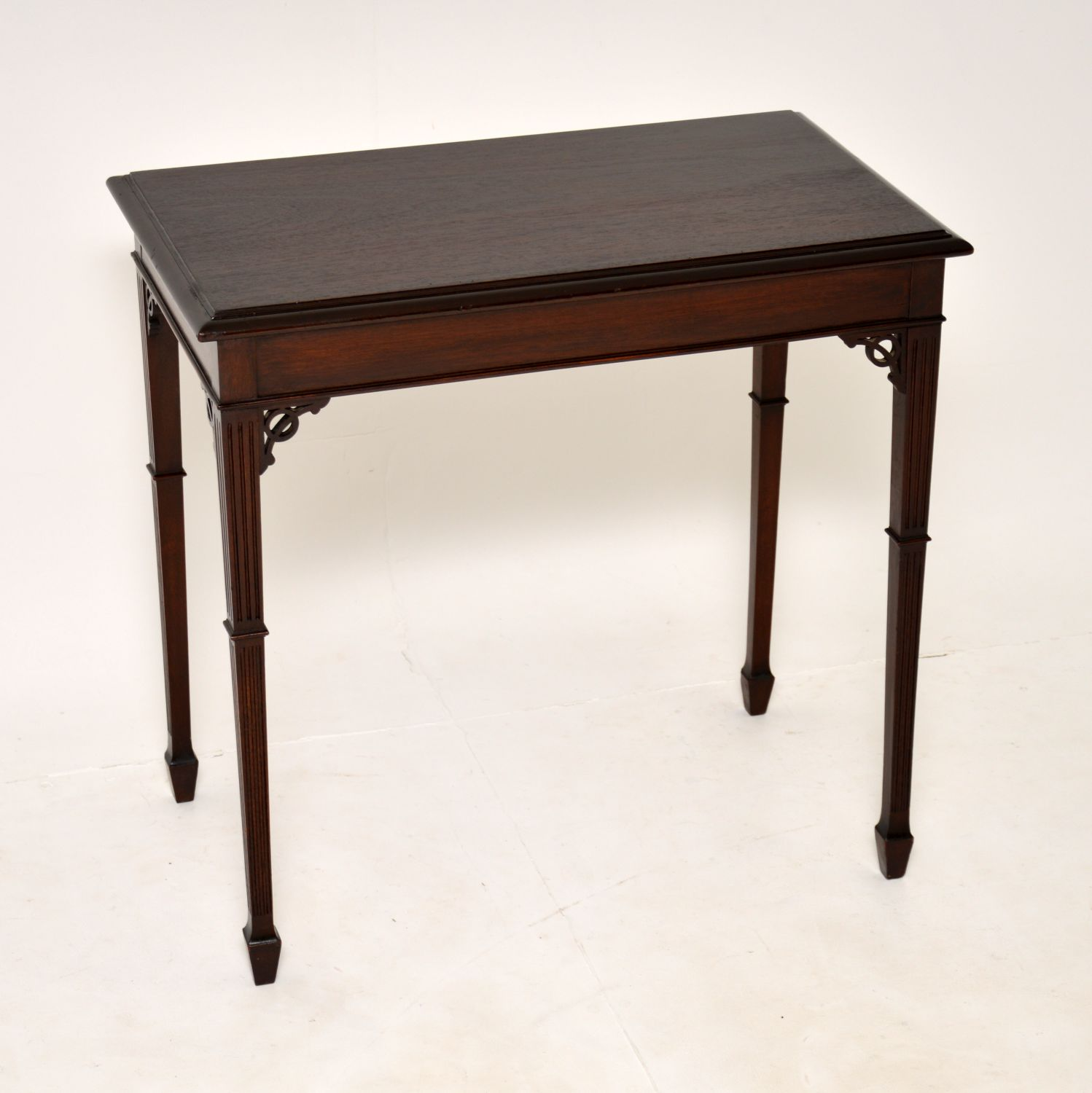 antique edwardian mahogany side occasional table