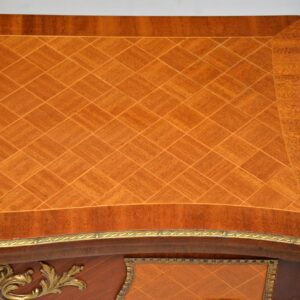 antique french inlaid parquetry card table
