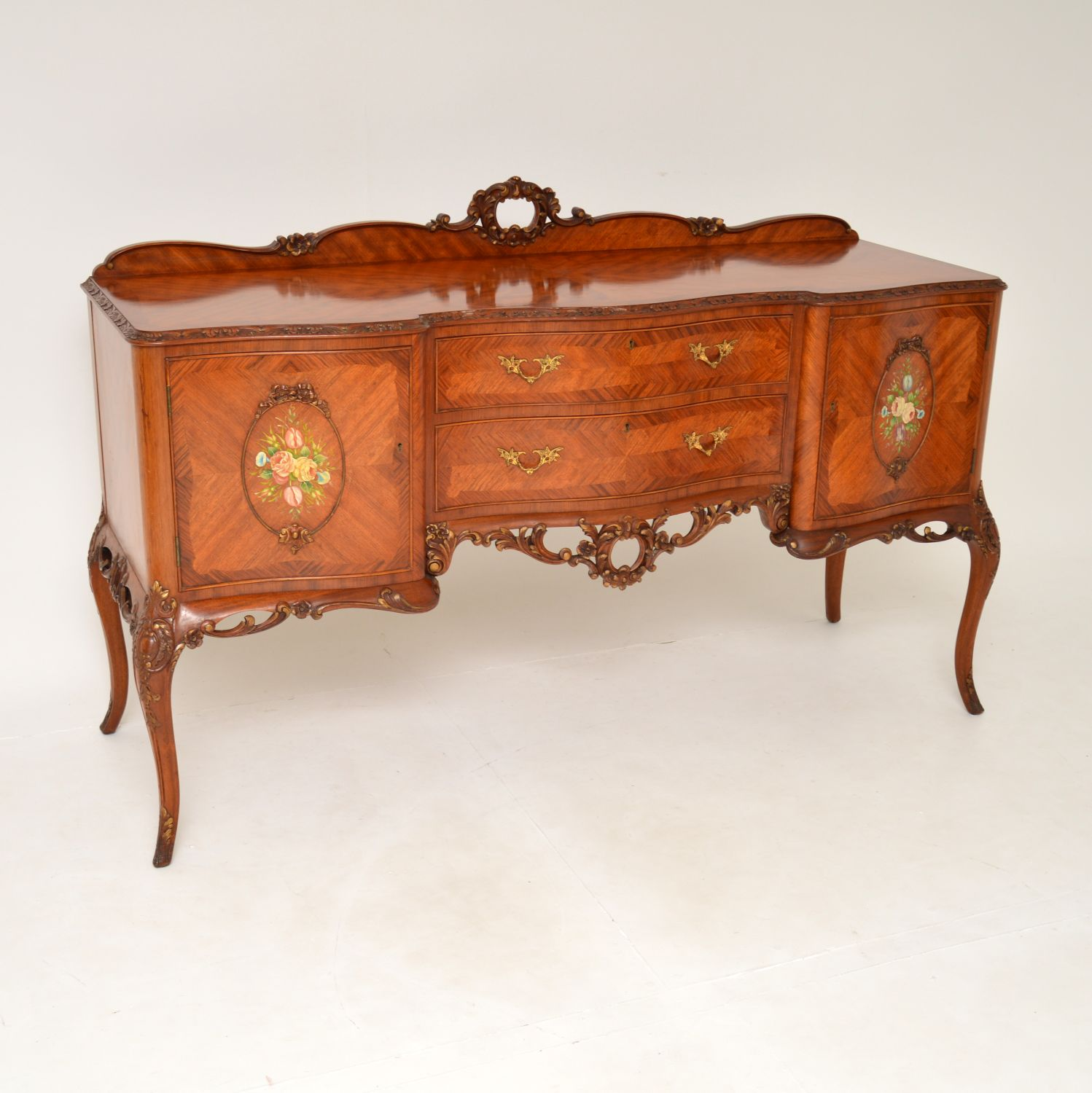 antique french king wood painted sideboard