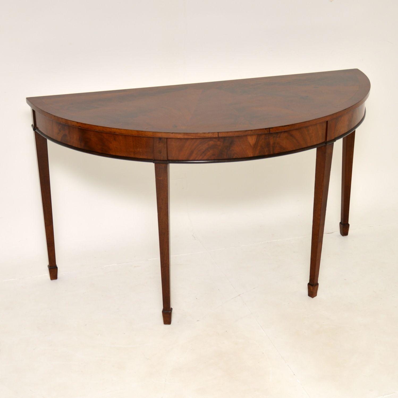 antique georgian period mahogany d end console table