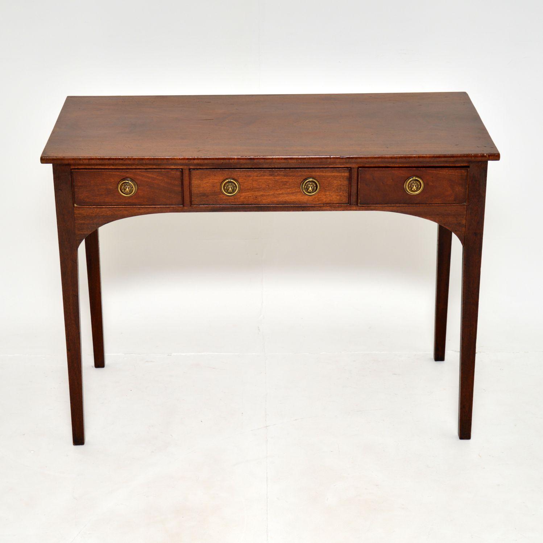 antique georgian period mahogany side console writing table desk