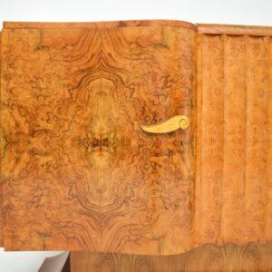 art deco burr walnut sideboard by hille
