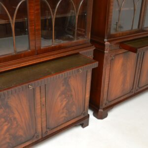 Pair of Antique Georgian Style Mahogany Bookcases