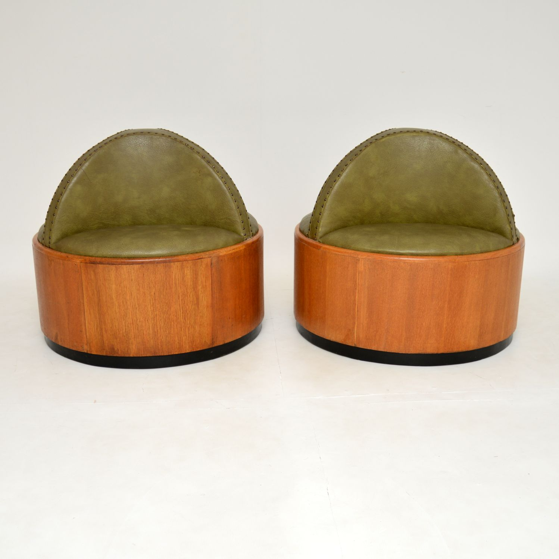pair of art deco antique conversation seats